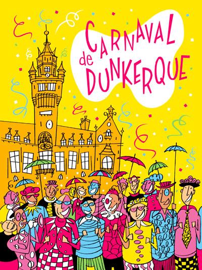 Affiche carnaval de Dunkerque